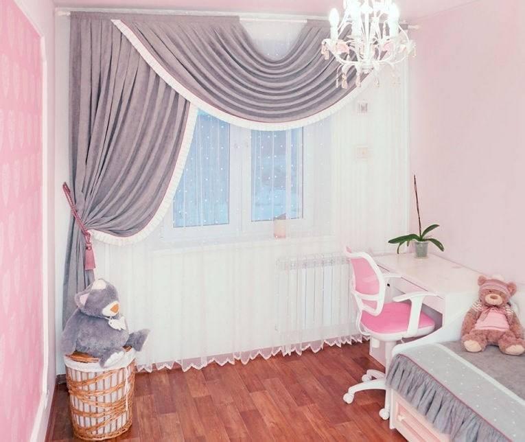 Шторы в детскую комнату для девочки, в том числе тюль, занавески и другие варианты + фото