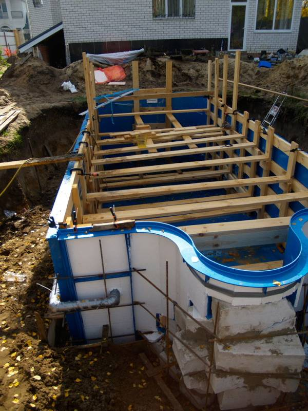 Каркасный бассейн своими руками: пошаговая инструкция, как сделать своими руками для частного дома и дачи из подручных материалов (баннера и т.д.) во дворе