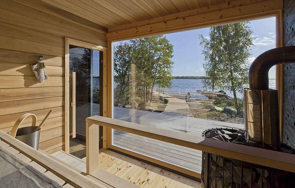 Панорамные окна для бани: красота высокого класса