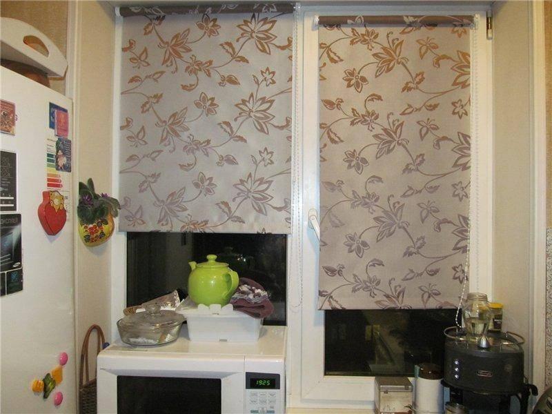 Рулонные шторы в хрущёвке: примеры на фото