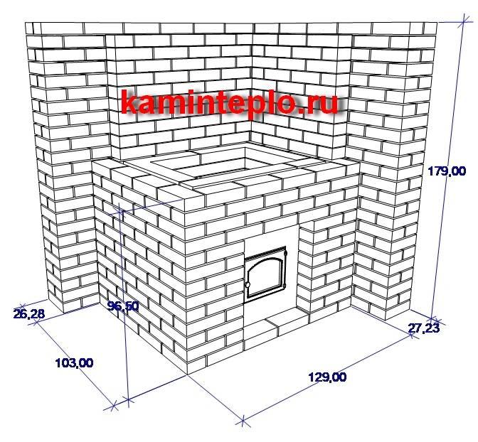 Расчет и размеры печей для бани