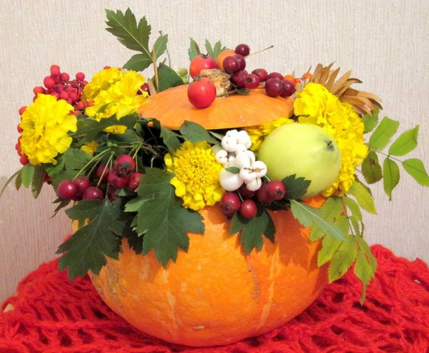 Осенний букет. композиции своими руками из листьев, природного материала, страница 3