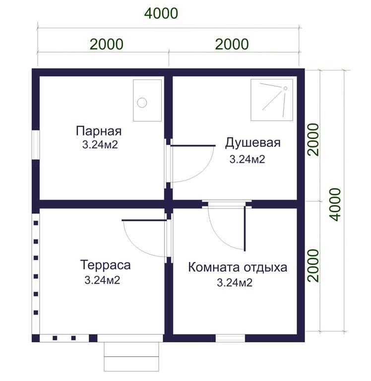 Бани 3х4: особенности внутренней планировки и выбор проекта, с отдельной парилкой и мойкой