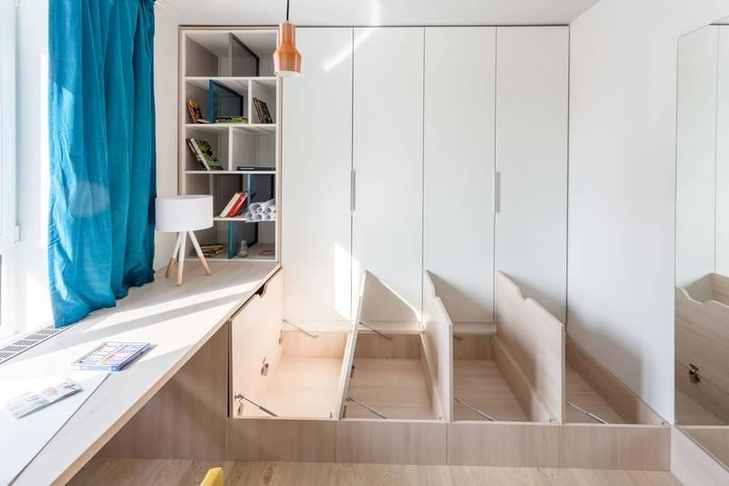 10 идей организации потайной кровати на фото