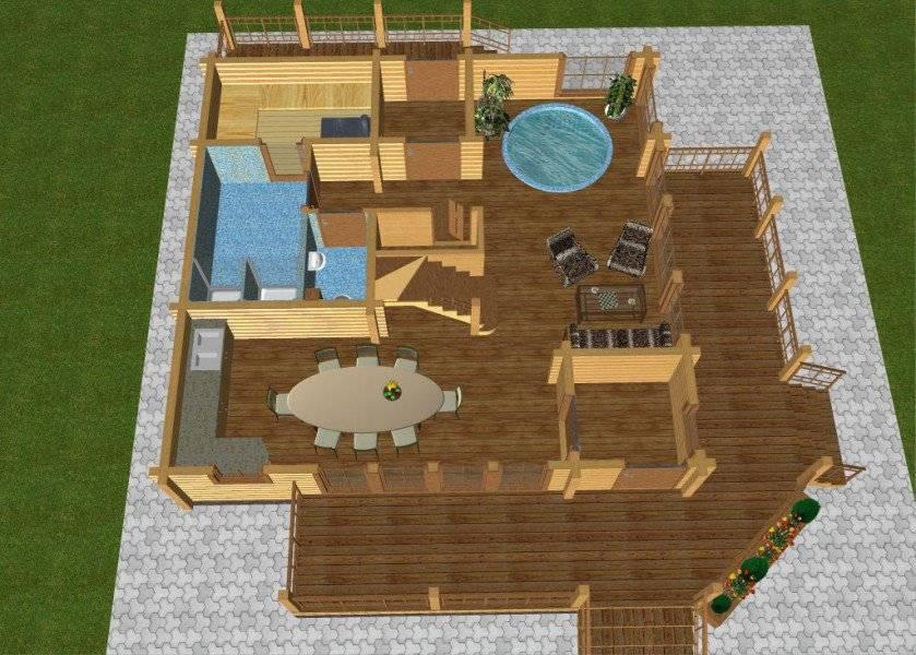 Особенности планировки и строительства гостевого дома-бани