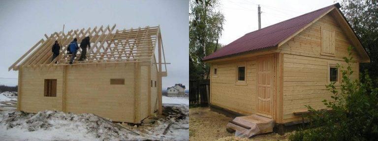 Как сделать крышу бани правильно: односкатную, двускатную, инструкция пошагово, чем покрыть крышу на бане