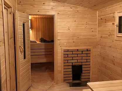 Внутренняя отделка бани: обшивка брусом, блок хаусом и вагонкой своими руками