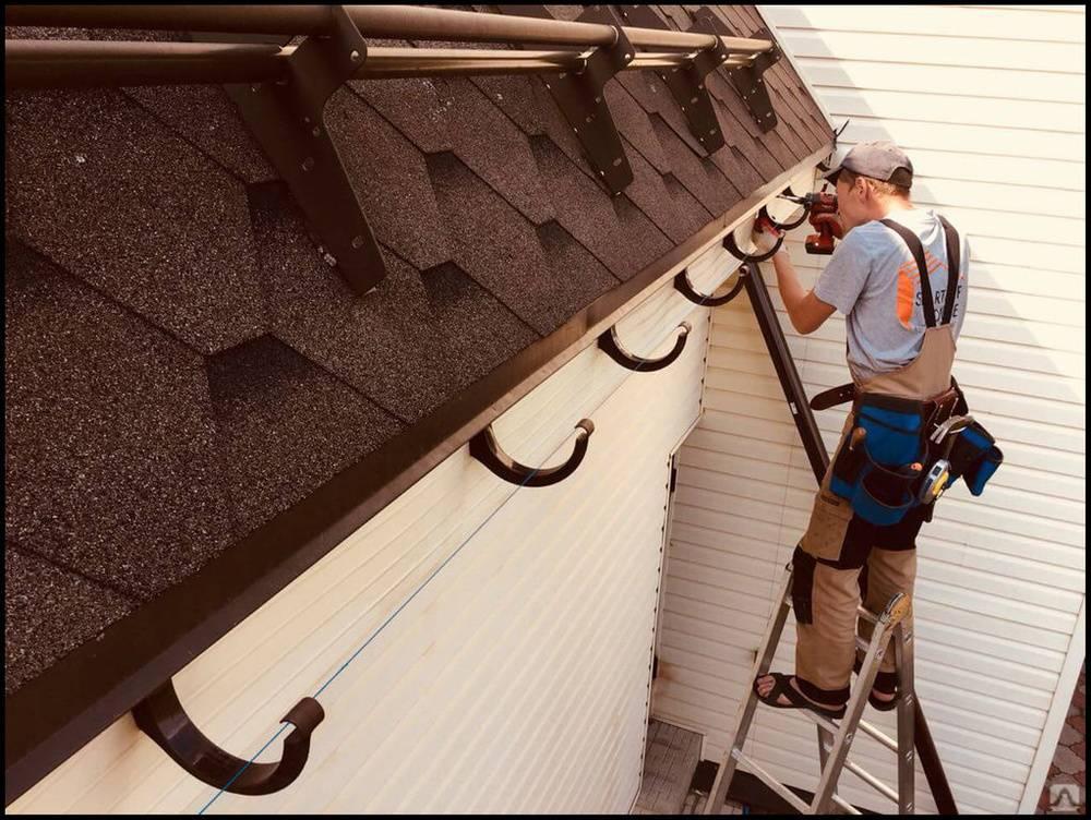 Как установить водостоки, если крыша уже покрыта шифером?