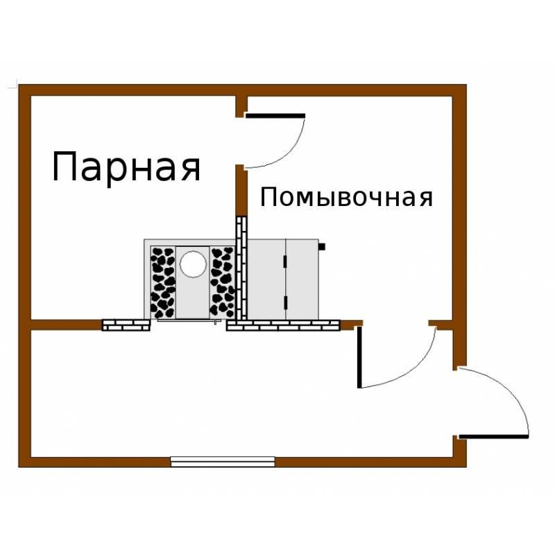 Печи для бани с отдельной мойкой и парилкой: критерии выбора, обзор моделей, установка