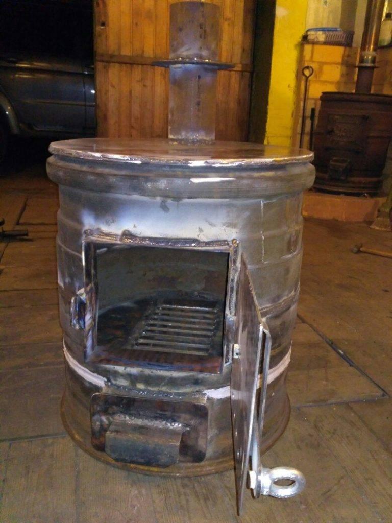 Печь для бани из колесных дисков грузового автомобиля — как сделать своими руками