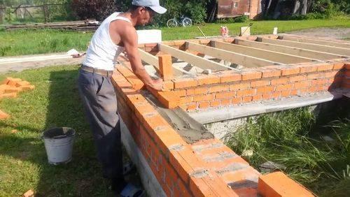 Баня из кирпича своими руками – все этапы строительства