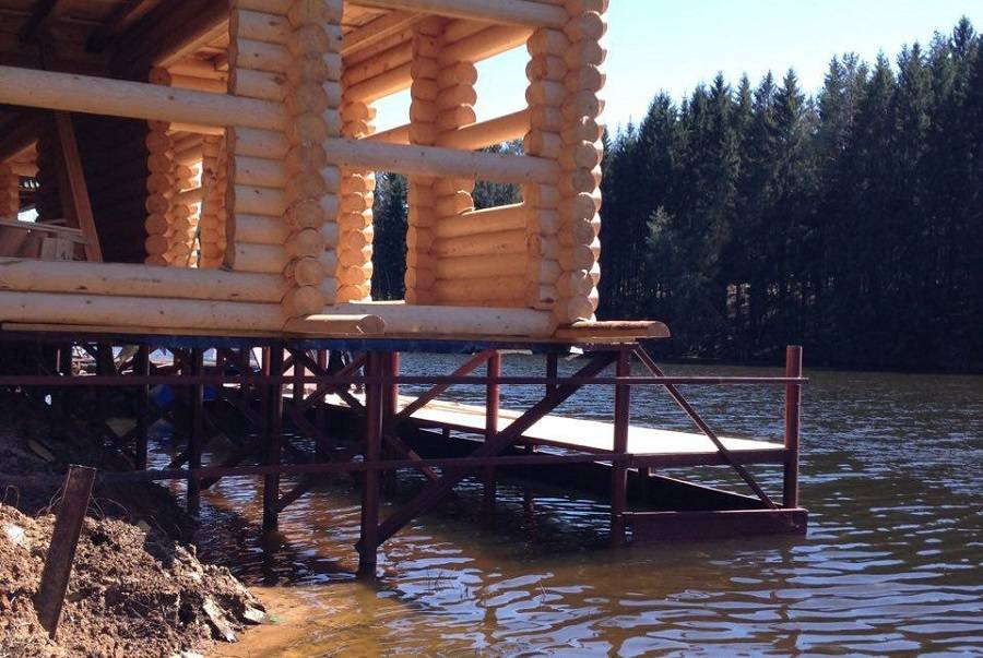 Строительство бани на свайном фундаменте своими руками