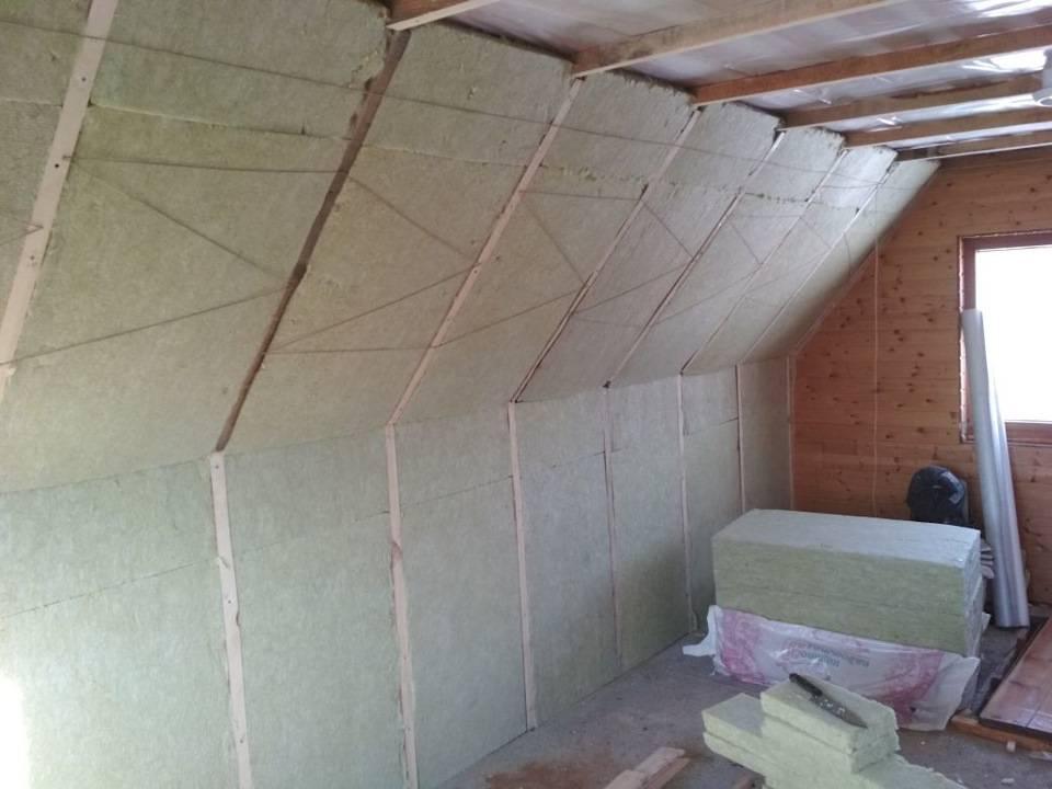 Чем и как утеплить крышу бани
