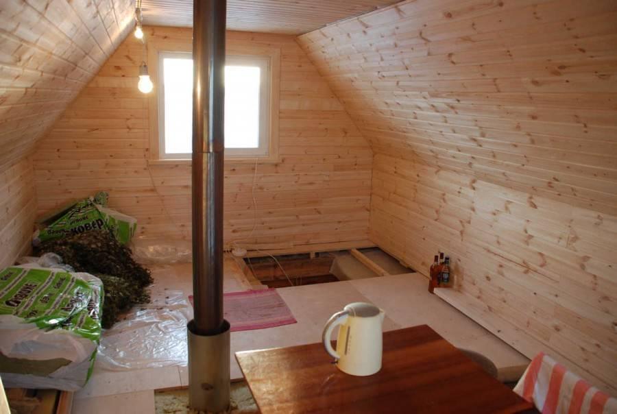 Особенности постройки бани с мансардой
