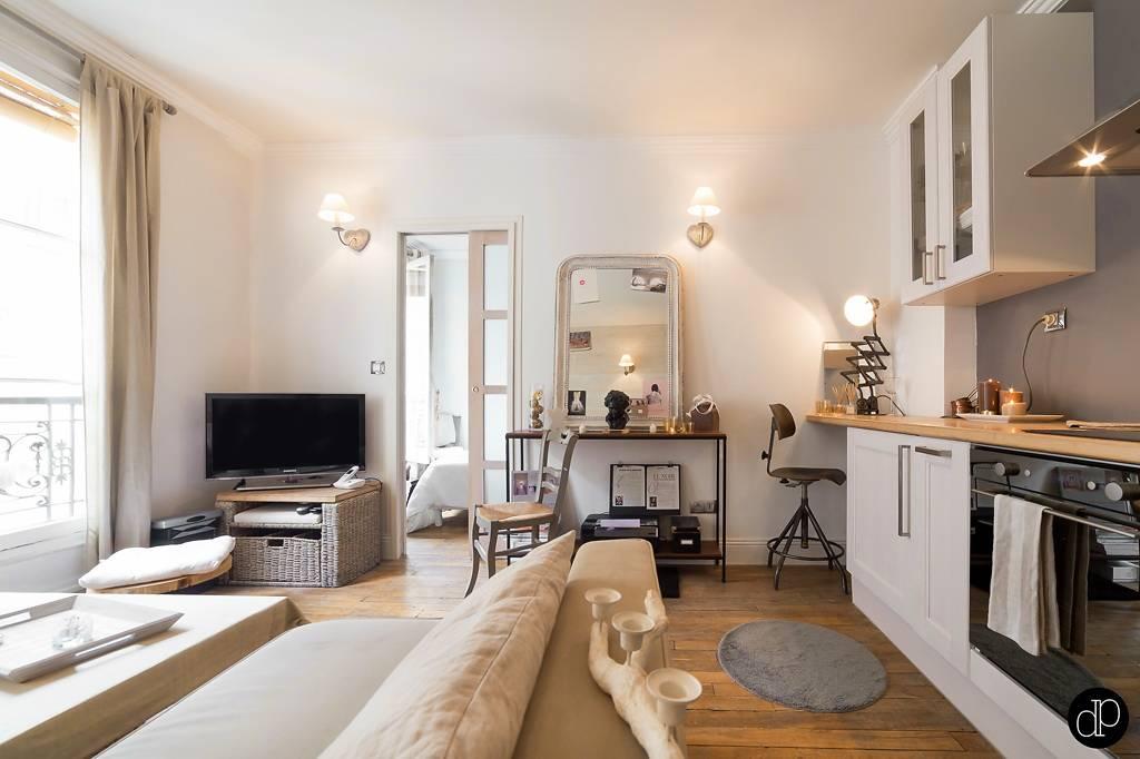 До и после: маленькая студия в париже в доме xix века | houzz россия