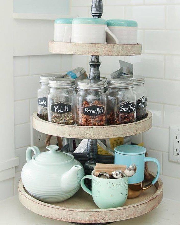 Идеи для хранения чашек на кухне