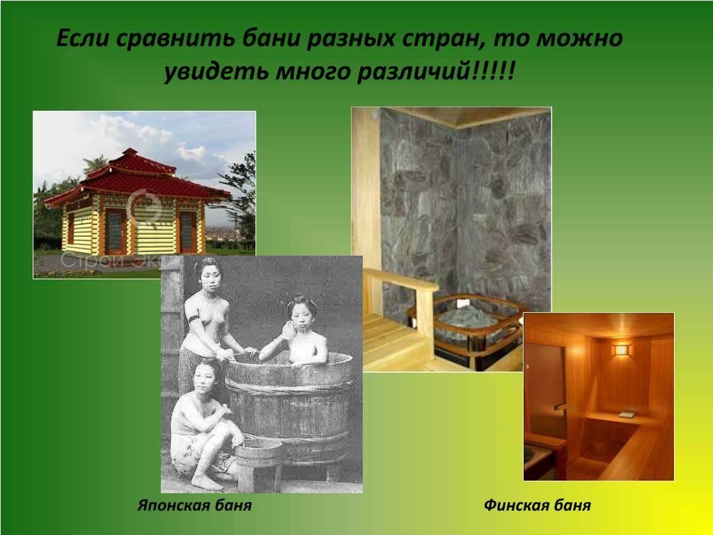 Первые бани разных стран мира