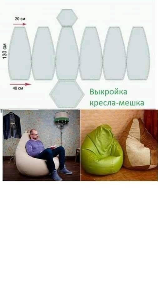 Кресло-мешок своими руками: мастер-класс по изготовлению необычной мебели