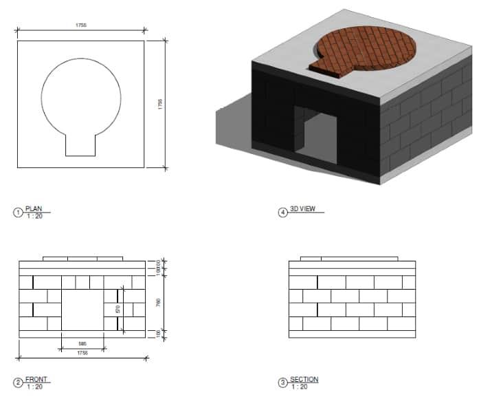 Как своими руками добавить в жизнь нотку экзотики: чертеж помпейской печи