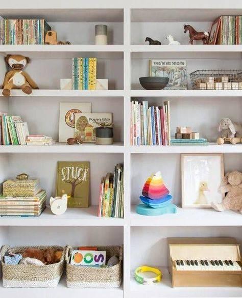 27 интересных полок на стену для детской комнаты