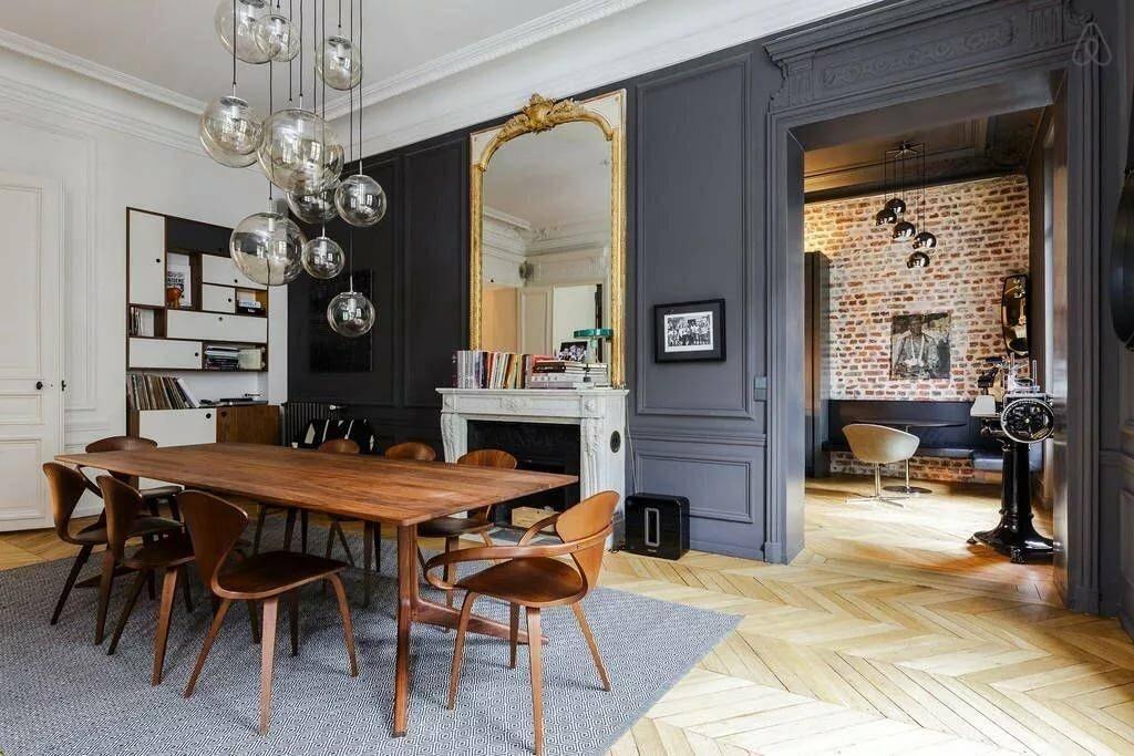 Парижский стиль в интерьере (40 фото): декор квартиры и комнаты, оформление спальни и кухни дома в тематике париж, дизайн