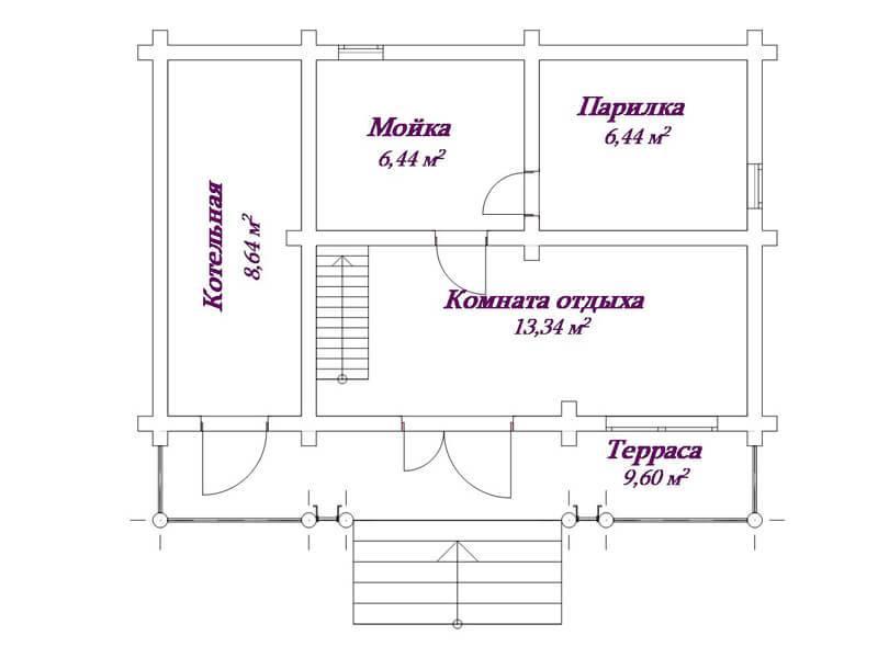 Планировка бани: проект плана мойки и парилка отдельно своими руками