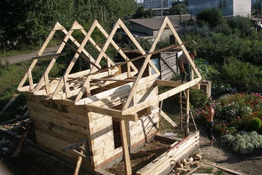 Устройство двухскатной крыши: элементы конструкции