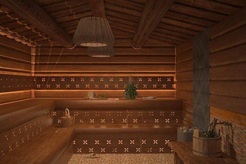 Дизайн и планировка бани с комнатой отдыха