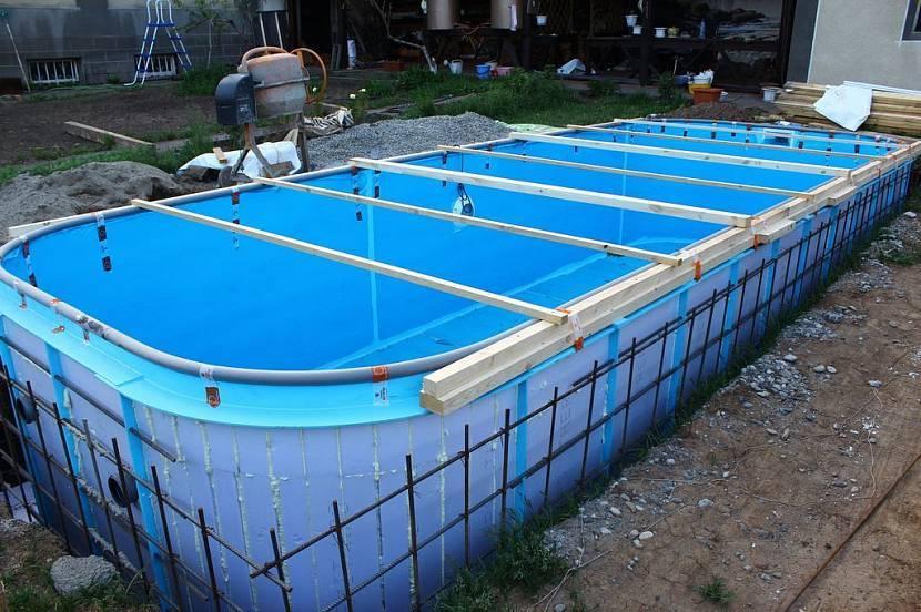 Монтаж композитных бассейнов: как устанавливают своими руками (пошаговая инструкция), какая цена установки специалистами?