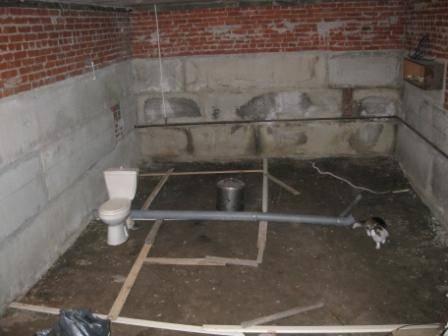 Сауна в подвале частного дома: в гараже