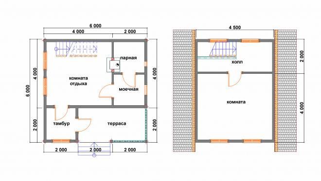 Строим баню 6х6 из пеноблоков: практичные идеи