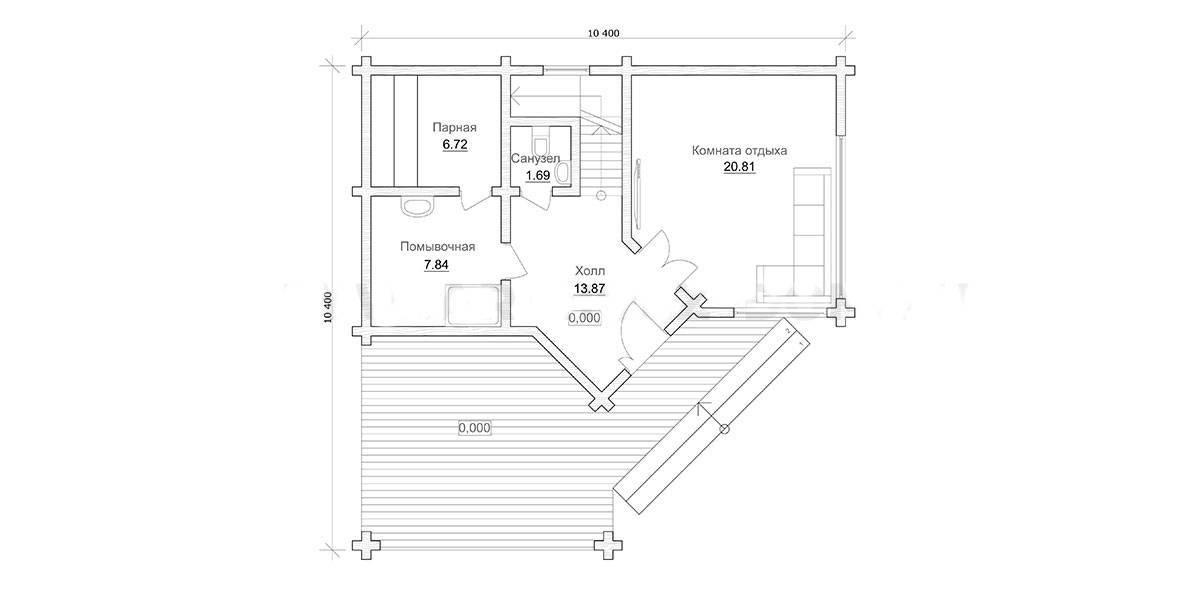 Проекты бань (171 фото): планировка двухэтажных строений размером 5 на 3 из газобетона, особенности изготовления угловых конструкций своими руками