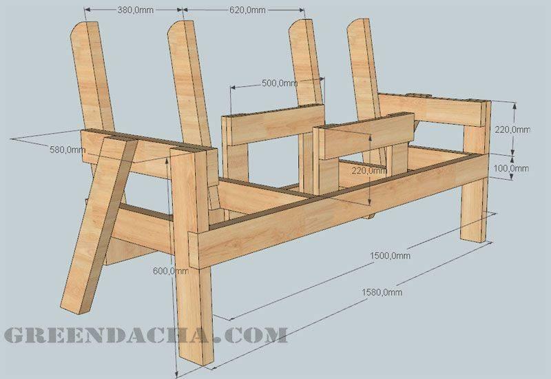 Скамейка из бревна своими руками. 700 фото, пошаговые инструкции