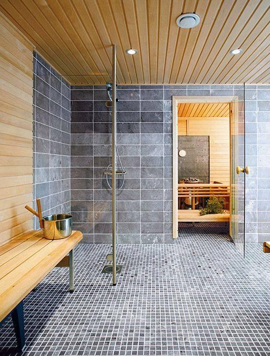 Внутренняя отделка моечной бани