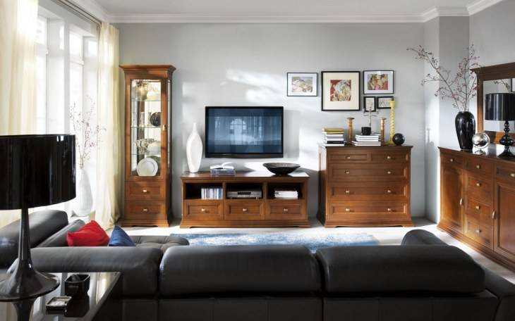 Комоды в гостиную (75 фото): стильные и современные комоды-тумбы для посуды, большие угловые модели и другие варианты