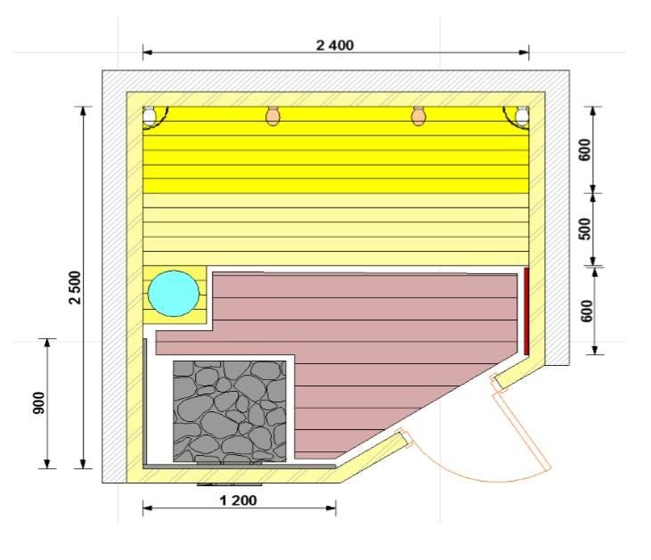 Оптимальные размеры парилки - ширина, высота потолка, размеры полков