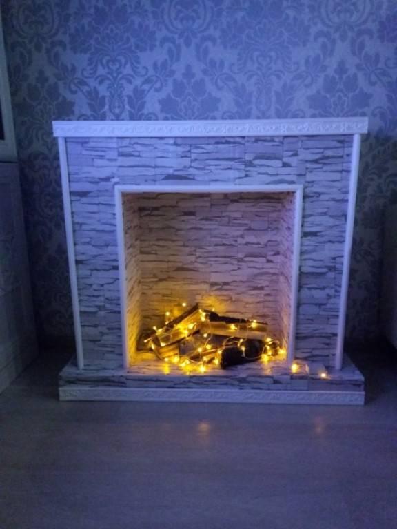 Имитация огня в камине своими руками, доступные варианты