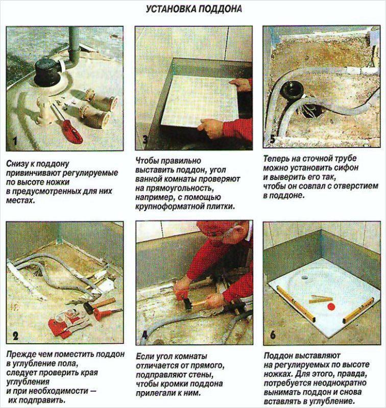 Душевой поддон своими руками: как сделать из кирпича, из плитки и другие варианты