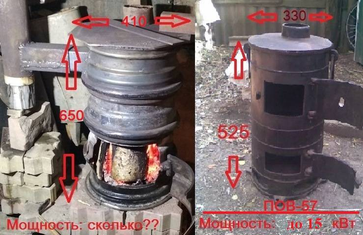 Как своими руками сделать печь из колесных дисков для бани и подсобных помещений