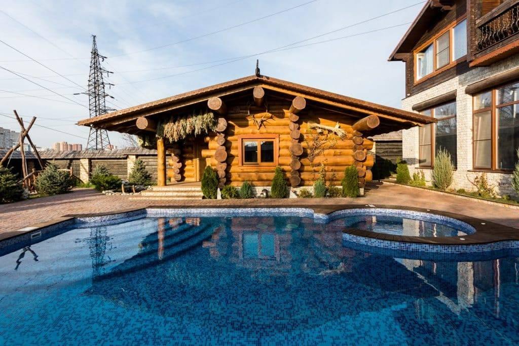 Банный комплекс: проект, как построить баню с бассейном на даче