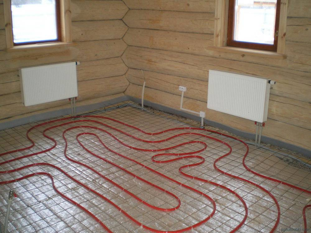 Теплый пол в бане: критерии выбора конструкции