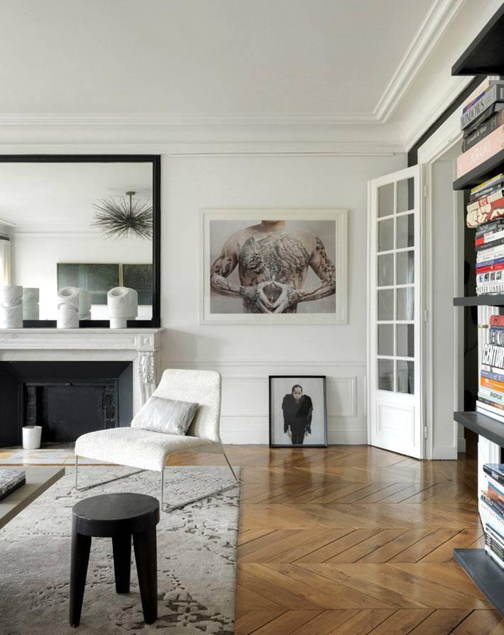 Парижская квартира с мебелью с блошиного рынка: фото дизайн-проекта | houzz россия