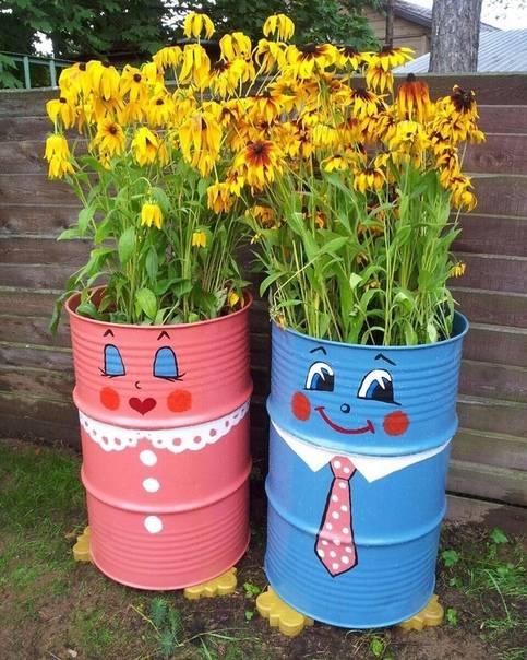 Раскрашиваем бочки в саду: идеи дизайна на фото