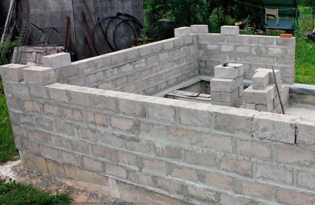 Баня из шлакоблока своими руками - как построить | стройсоветы