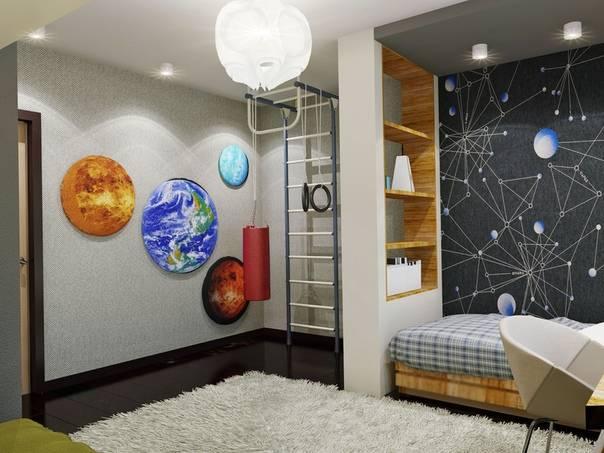 Комната в стиле космос или как впустить вселенную в дом - 34 фото