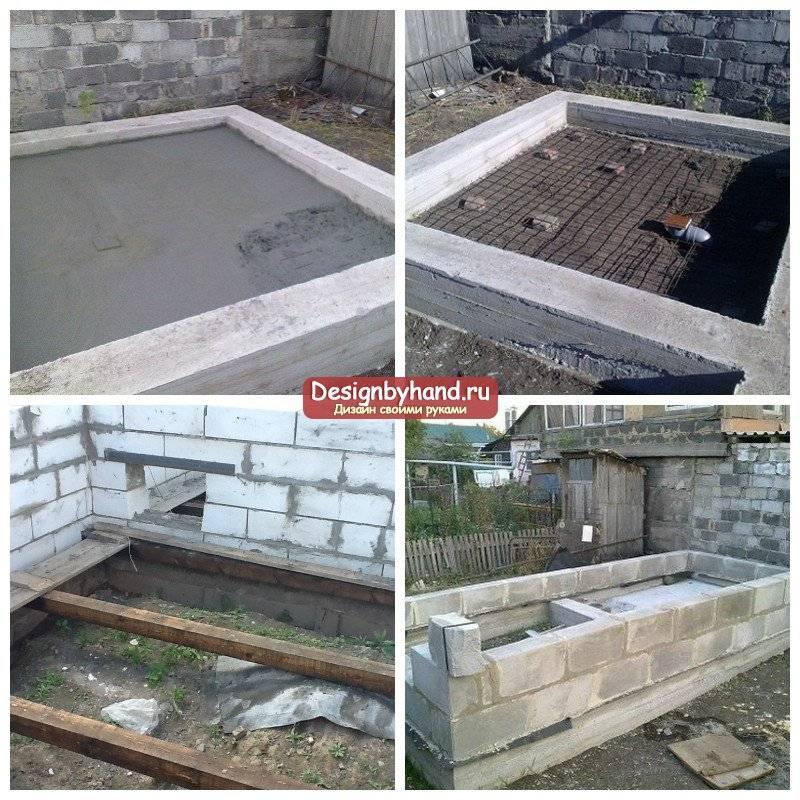 Строительство бани из пеноблоков своими руками: фундамент, как построить