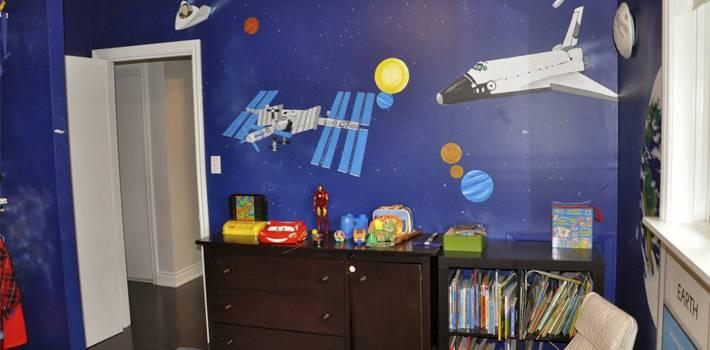Комната в стиле космос: описание и идеи интерьеров
