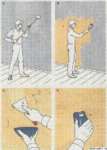 Как очистить стены от старых обоев быстро