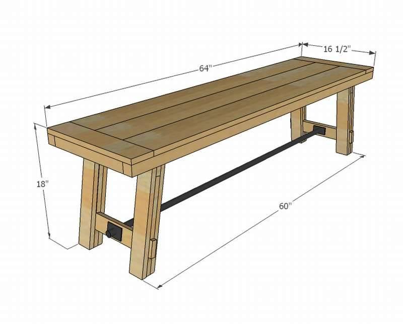 Скамейки для бани из дерева: как сделать своими руками, чертежи и фото лавок, инструкция по изготовлению