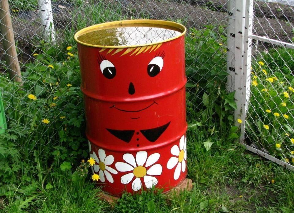 Хитрые приемы декорирования старых бочек: как покрасить бочку